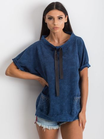 Granatowa bluzka Affordability