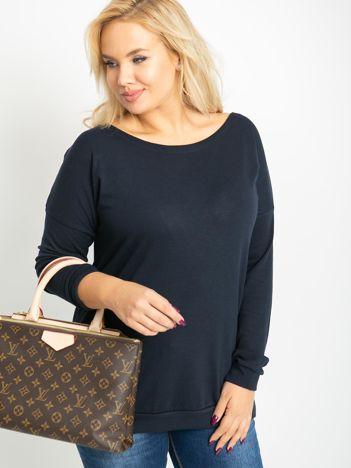 Granatowa bluzka plus size Alexa