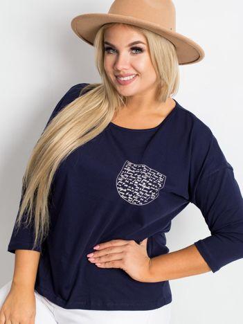 Granatowa bluzka plus size Touchy