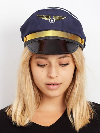 Granatowa czapka pilota