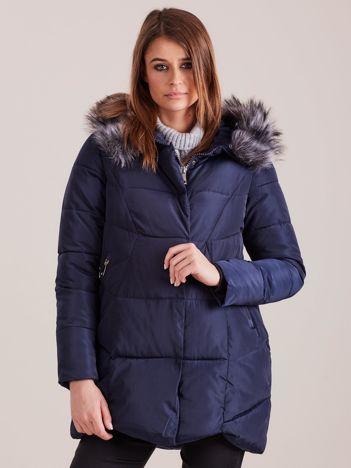 Granatowa damska kurtka zimowa