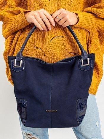 Granatowa damska torba na ramię