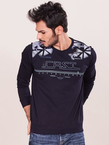 Granatowa męska bluza