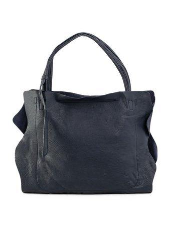 Granatowa miękka torba damska