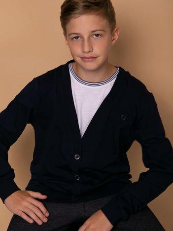 Granatowa rozpinana bluza dla chłopca