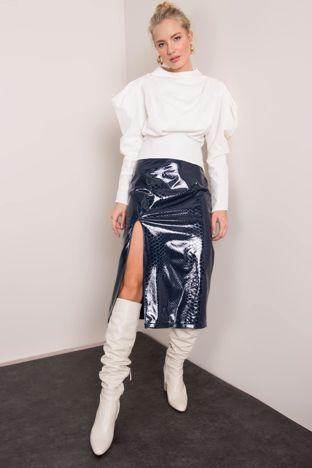 Granatowa spódnica z rozcięciem BSL