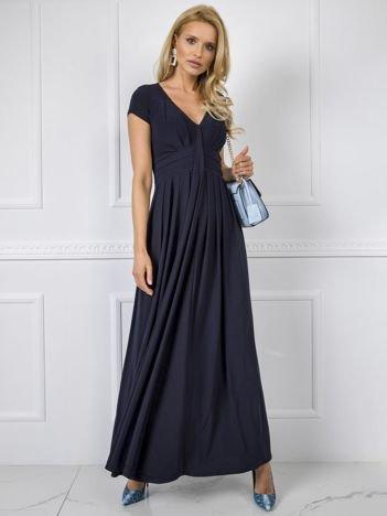 Granatowa sukienka Chrissy