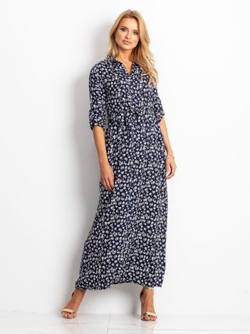 Granatowa sukienka Icon