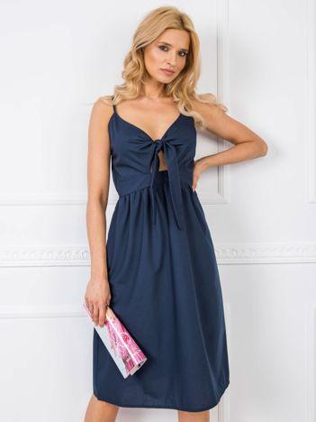 Granatowa sukienka Julianna RUE PARIS