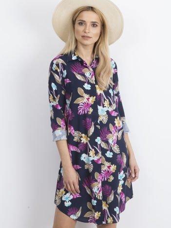Granatowa sukienka Meantime
