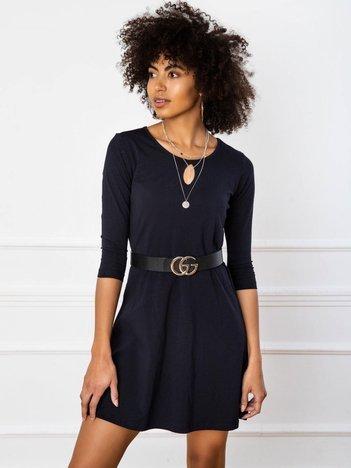 Granatowa sukienka Savage