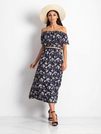 Granatowa sukienka Semen