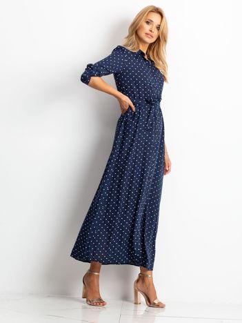 Granatowa sukienka Shadow