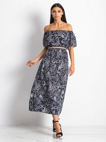 Granatowa sukienka Vinona