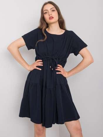 Granatowa sukienka na co dzień Sebille RUE PARIS