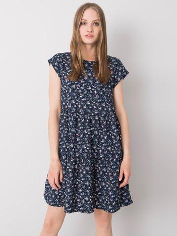 Granatowa sukienka oversize Eve STITCH & SOUL