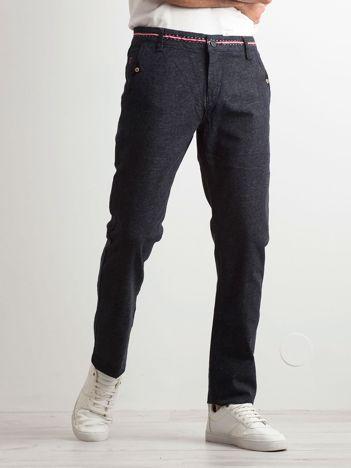 Granatowe bawełniane spodnie męskie