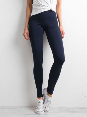 Granatowe legginsy damskie basic