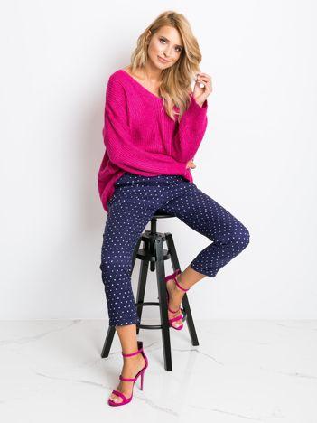 Granatowe spodnie Cassie