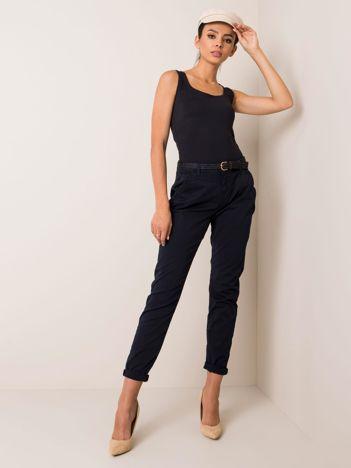Granatowe spodnie Crush