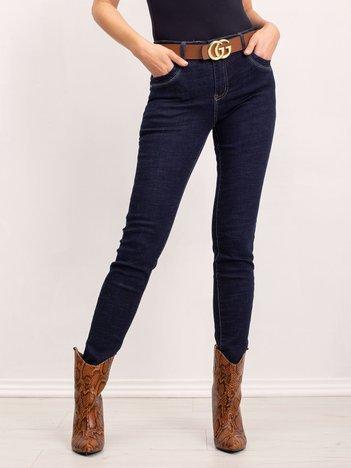 Granatowe spodnie Juliette