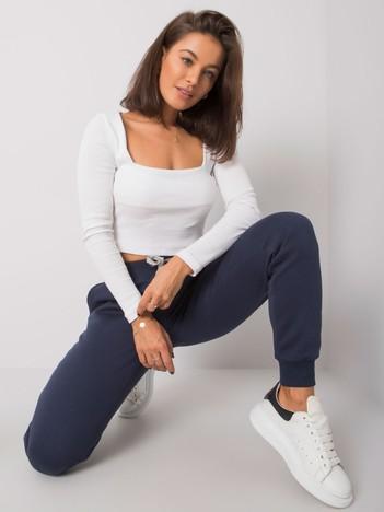 Granatowe spodnie Tracey