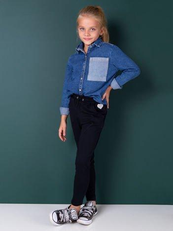 Granatowe spodnie dresowe dla dziewczynki
