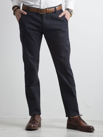 Granatowe spodnie regular