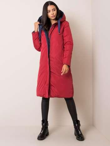 Granatowo-czerwona dwustronna kurtka zimowa Whitney