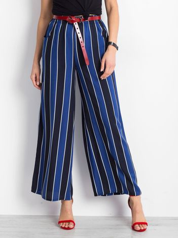 Granatowo-niebieskie spodnie Flowing