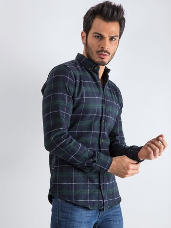 Granatowo-zielona koszula męska Lumberjack