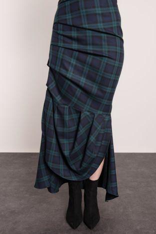 Granatowo-zielona spódnica BSL