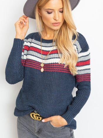 Granatowy sweter Attitiude