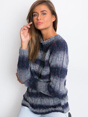 Granatowy sweter Rave