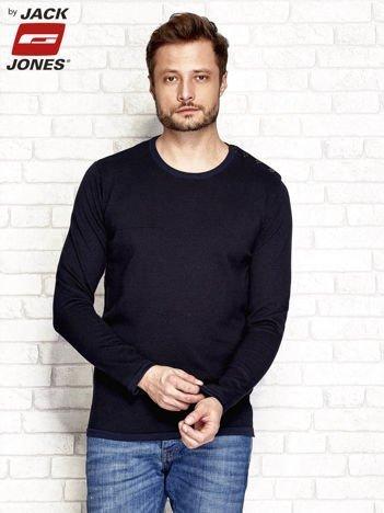 Granatowy sweter męski z guzikami