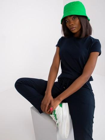Granatowy t-shirt damski