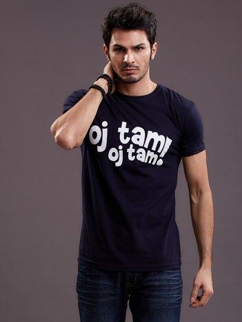 Granatowy t-shirt męski OJ TAM OJ TAM