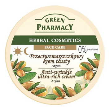 Green Pharmacy Herbal Cosmetics Krem do twarzy tłusty przeciwzmarszczkowy z arganem 150 ml