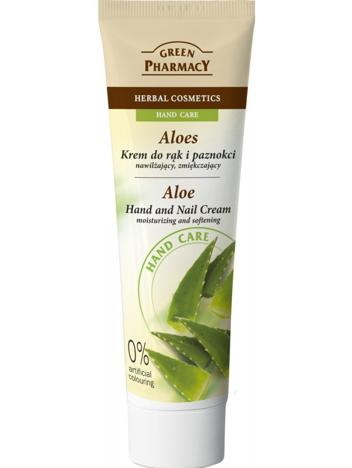 Green Pharmacy Krem do rąk i paznokci Aloes nawilżający i zmiękczający 100 ml