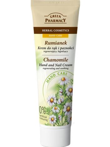 Green Pharmacy Krem do rąk i paznokci Rumianek regenerująco-łagodzący 100 ml