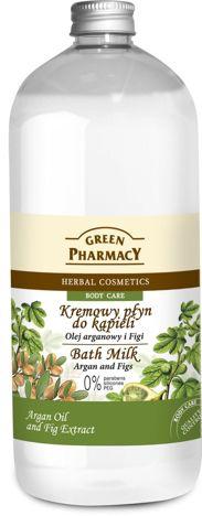 Green Pharmacy Kremowy Płyn do kąpieli Olej Arganowy & Figi 1000ml