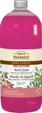 Green Pharmacy Pianka do kąpieli Róża piżmowa & Zielona herbata 1000 ml