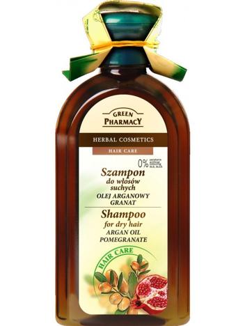 Green Pharmacy Szampon do włosów suchych Olejek Arganowy, Granat 350 ml