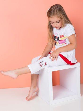 HELLO KITTY Białe legginsy dla dziewczynki