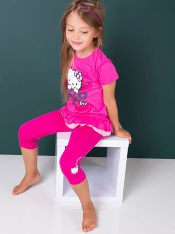 HELLO KITTY Różowe legginsy dla dziewczynki