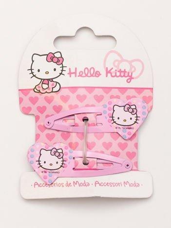 HELLO KITTY Zestaw 2 szt. jasnoróżowych spinek do włosów dla dziewczynki