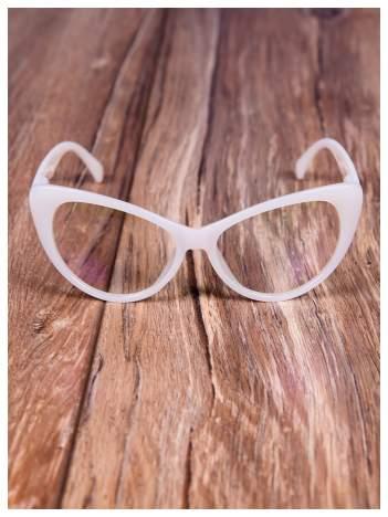 HIT 2016 Modne okulary zerówki typu KOCIE OCZY w stylu Marlin Monroe;soczewki ANTYREFLEKS+system FLEX na zausznikach