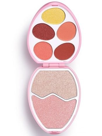 I Heart Revolution Easter Egg Zestaw do makijażu (cienie+rozświetlacze) Flamingo