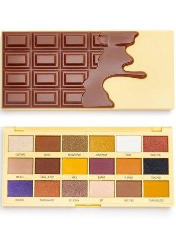 I ♥ Revolution Chocolate Crème Brulée Palette Paleta 18 Cieni Do Powiek