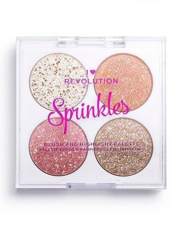 I ♥ Revolution Paletka do konturowania Blush&Sprinkles Frosted Cupcake 4 x 1,5 g